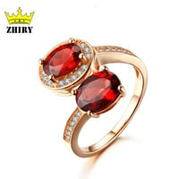 Genuine garnet ring Solid 925 sterling silver 100% natural gem high quality semi precious red stone woman fine jewelry