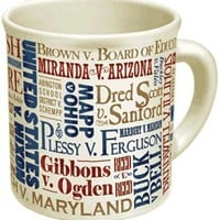 Great Supreme Court Cases Mug - Whimsical & Unique Gift Ideas for the Coolest Gift Givers