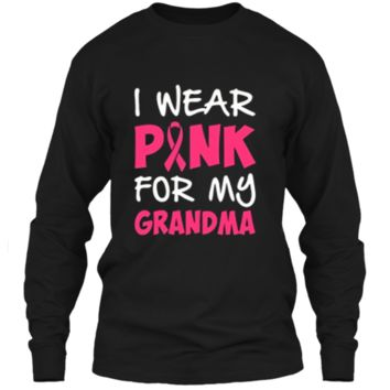 Breast Cancer Awareness Month Pink For Grandma T Shirt LS Ultra Cotton Tshirt