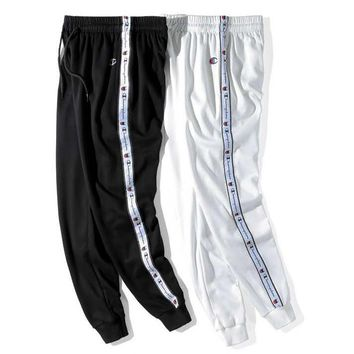 Champion Fashion New Side String Mark Print Leisure Sports Women Men Pants