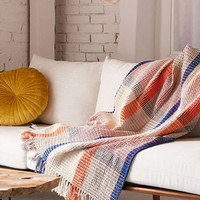 Plaid Waffle Knit Throw Blanket - Urban Outfitters