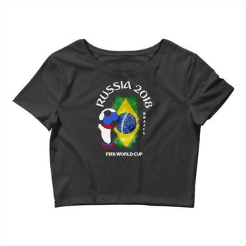 brazil national team youth 2018 fifa world cup Crop Top