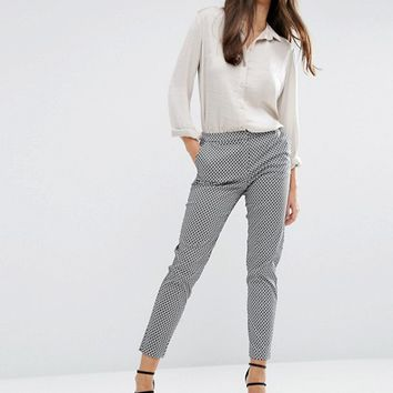 ASOS Slim Pants in Geo Print at asos.com