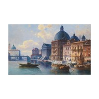 Circle Canal in Venice Canvas Print