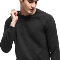 Solid Fleece Long Sleeve Sweatshirt