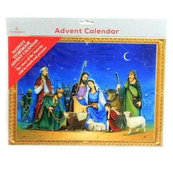Christmas THE NATIVITY ADVENT CALENDAR Germany Story Told In Pictures Acl4716