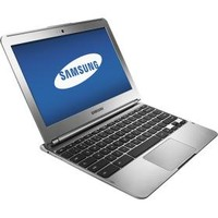 "Samsung - Geek Squad Certified Refurbished 11.6"" Chromebook - 2GB Memory - 16GB Flash (eMMc) Memory - Silver"