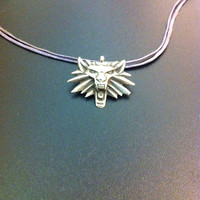 Beautiful sterling silver witcher pendant- The witcher sigil- gamer jewelry- Geekery- Artisan jewelry- Greek art