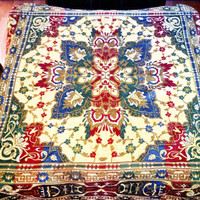 Stunning Tapestry, Colorful with Fringe, Likely An Italian or Turkish Antique