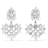 YEPREM - 18-karat white gold diamond earrings