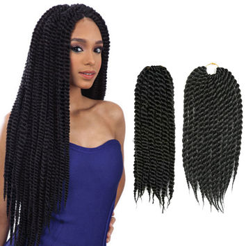 14'' Mambo Crochet Twists Hair Extensions Braid Synthetic Pre-Twisted Curly Braiding Hair 2 Expression Twist Crochet Braid