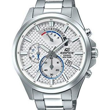 Casio Men's 'Edifice' Quartz Stainless Steel Casual Watch, Color:Silver-Toned (Model: EFV-530D-7AVCF)