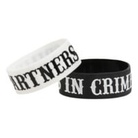 Partners In Crime Rubber Bracelet 2 Pack