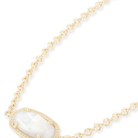 Kendra Scott Elaina White Mother of Pearl Gold Adjustable Bolo Bracelet