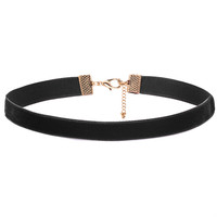 Black Thick Velvet Choker