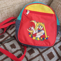 Vintage 90's Sailor Moon Mini BACKPACK - Sailor Scout Gear