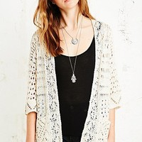 Staring at Stars Crochet Cardigan in Cream - Urban Outfitters