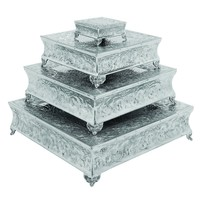 Aluminum Cake Stand Set Of 4 - A Dining Area Specific decor By Benzara