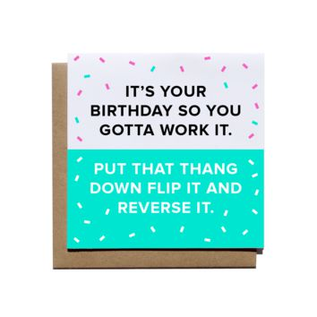 Work It Birthday Card