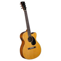 Accent Birch Cutaway Acoustic Folk Guitar With Electric Pickup