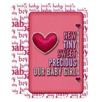 Our Baby Girl JOURNAL CARD