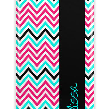 THIN MULTICOLOR CHEVRON - Personalized Iphone case with name