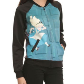 Disney Alice In Wonderland Falling Girls Bomber Jacket