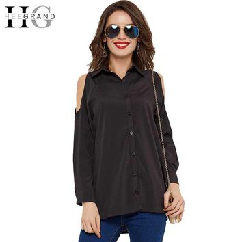 Spring Black White Women Blouses Summer Off Shoulder Long Sleeve Shirts Women Solid Chiffon Blouse