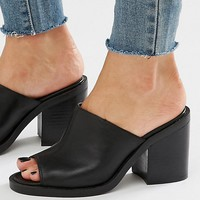 New Look Block Heel Mule at asos.com