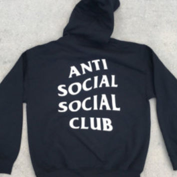 AntiSocial Social Club Hoodie Anti Social Social Club Hooded Kanye Sweatshirts Black - Unisex Hoodie - Kanye West - Customize Your City