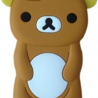 LliVEER 3D Cute Cartoon Soft Silicone Case Protective Cover for iPhone 6 4.7 Rilakkuma Bear Brown