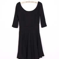 Pleated Mini Dress with Sleeves