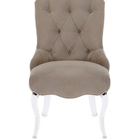 caracole Pair of Aveline Tufted Dining Chairs