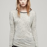 Rag & Bone - Spine Long Sleeve Tee, Almond