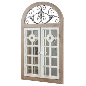 American Art Decor Arch Window Shutter Wall Vanity Mirror | Overstock.com Shopping - The Best Deals on Mirrors