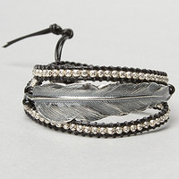 The Silver Feather & Rope Beaded Bracelet