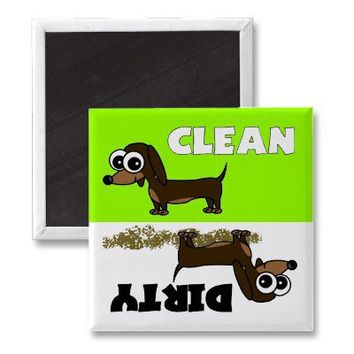 Cute Dachshund Clean / Dirty Dishwasher Magnet from Zazzle.com