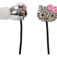 Hello Kitty Rhinestone Earbuds with Bow Mic (HKBL1010-WM)