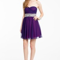 Strapless Two Tone Dress