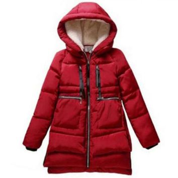 1PC Winter Jacket Women Military Coats Plus Size Thickening Cotton Hooded Parkas For Women Winter Coat Chaquetas Mujer