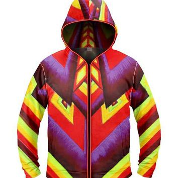 Aliume Fractal by Alex Aliume Light Up Hoodie