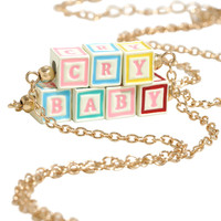 Melanie Martinez Cry Baby Block Letter Necklace Set