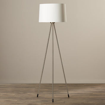"Sleek Stylish Modern Fabric Metal Buckland 59"" Floor Lamp"