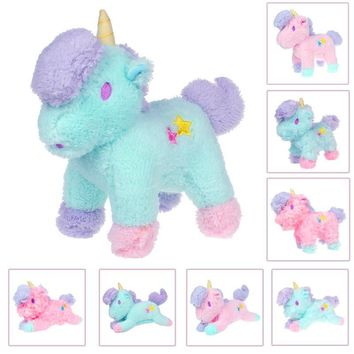 20CM 8 styles 2016 Fresh Plush Unicorn Horse Stuffed Animals Toys Baby Infant Girls Toys Birthday Gift Rainbow Dash