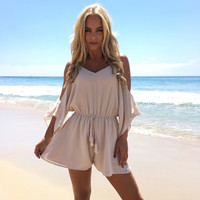 Crush On You Romper In Cream
