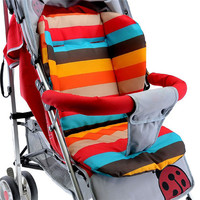 Baby Infant Stroller Seat Pushchair Cushion Cotton Mat Rainbow Color Chair BB Car Seat Cushion
