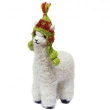 Huacaya Alpaca Felted Ornament