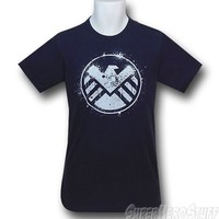 SHIELD Splatter Symbol 30 Single T-Shirt