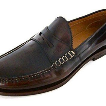 Gucci Mens Camelon Brown Leather Loafers Shoes Made in Italy