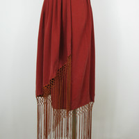 TOV Holy G Inc Gypsy Fringe Wrap Skirt 40 / M